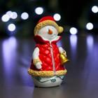"Фигура ""Снеговик с колокольчиком"" 6х6х12см"