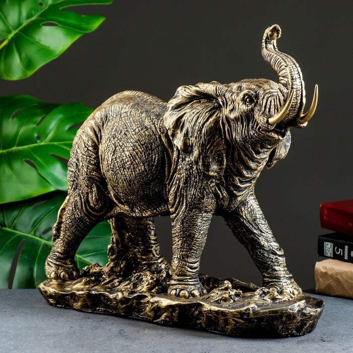 """Фигура """"Слон"""" бронза 43х18х35см"""