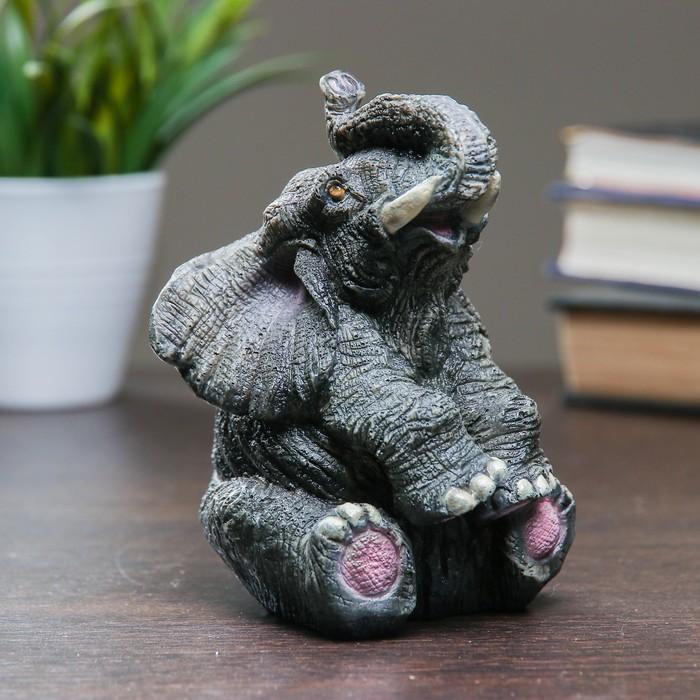 """Фигура """"Слон"""" серый 10х9х14см"""