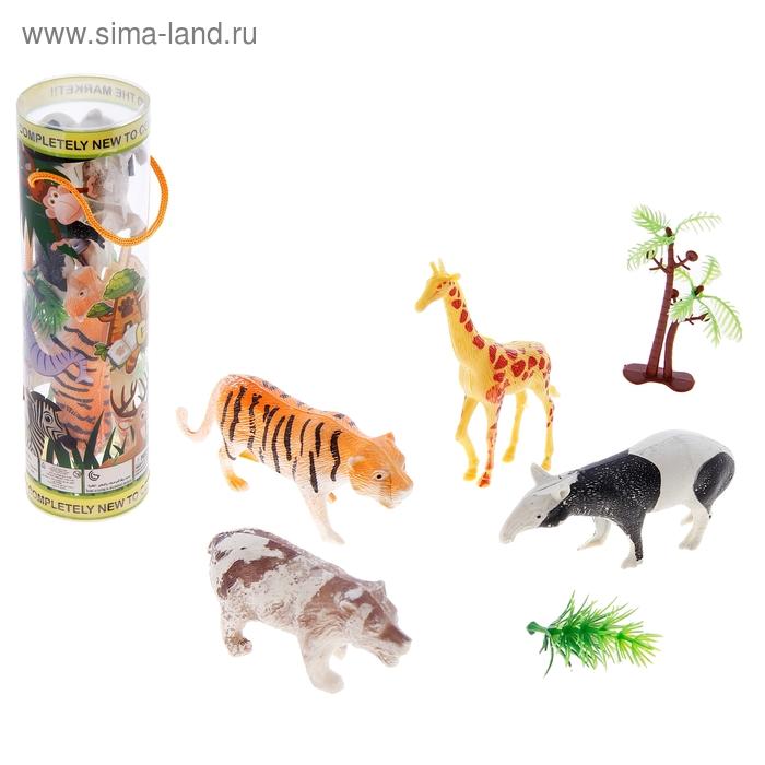 """Набор животных """"Дикие животные"""", с аксессуарами, (4 штуки)"""