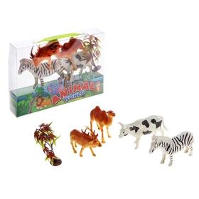 Набор животных «Животные планеты», 4 фигурки с аксессуарами