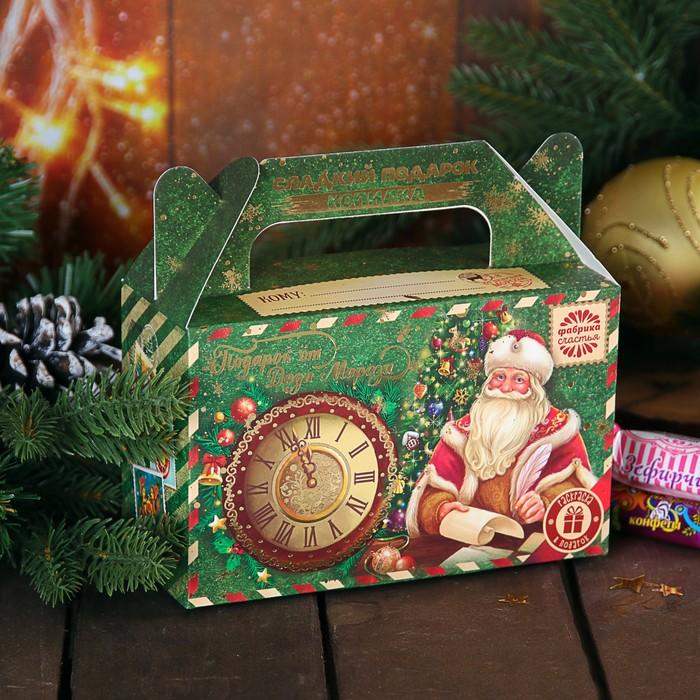 """Сладкий подарок-копилка с раскраской """"Подарок от Деда Мороза"""""""