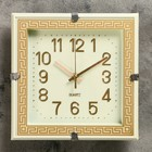 "Wall clock, series: Classic, ""Polly"", cream 23х23 cm"