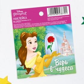 Наклейки бумажные 'Верь в чудеса', Принцессы, 6х7 см Ош