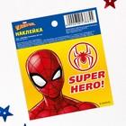 """Наклейки бумажные """"Super Hero"""", Человек-паук, 6х7 см"""