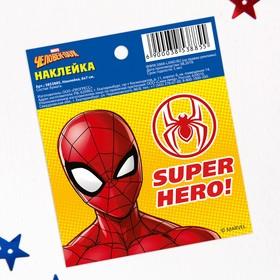 Наклейки бумажные 'Super Hero', Человек-паук, 6х7 см Ош