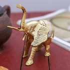 "A souvenir brass ""Elephant with colorful back"" 12,5х7х12 cm"