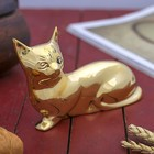 "A souvenir brass ""Cat"" 16х5х10 cm"