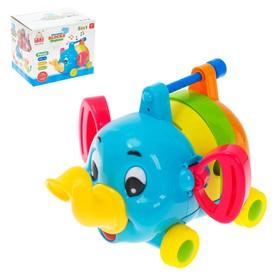 Развивающая игрушка «Слоник» 5 в 1, звуковые эффекты, подвижные элементы