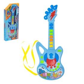 Музыкальная игрушка гитара «Молния», световые и звуковые эффекты