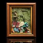 "Сувенир в рамке ""Серебряное копытце"", змеевик, 11х9 см"