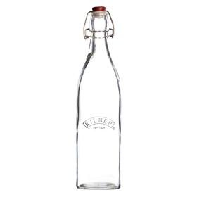 Бутылка Kilner Clip Top, квадратная, 1 л