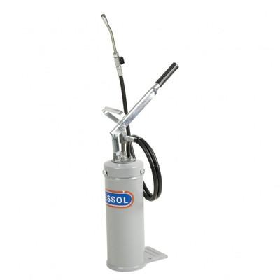 Переносной солидолораздатчик Pressol 17786, емкость 8л, ручной, смазки до NLGI 2, 10 см3/ход   39823