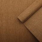 Бумага креп, простой, цвет коричневый, 0,5 х 2,5 м