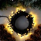 """Гирлянда """"Нить"""" уличная, 10 м, LED-100-220V, 8 режимов, нить тёмная, свечение тёплое белое"""