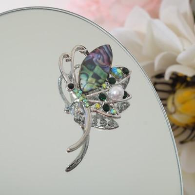 "Brooch ""Butterfly"" butterfly, colored in silver"