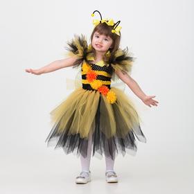 Карнавальный костюм «Пчёлка», сделай сам, корсет, ленты, брошки, аксессуары