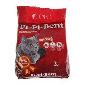 Наполнитель минеральный комкующийся 'Pi-Pi-Bent Classic', п/э пакет, 3 кг Ош