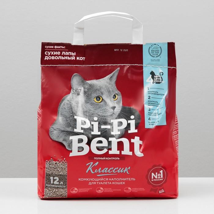 """Наполнитель минеральный комкующийся """"Pi-Pi-Bent Classic"""", п/э пакет, 5 кг"""
