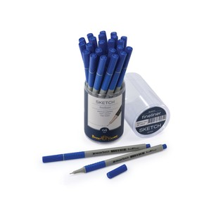 Ручка капиллярная-файнлайнер Sketch, узел 0.4 мм, стержень синий