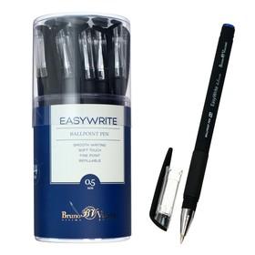 Ручка шариковая EasyWrite Black, узел 0.5 мм, синие чернила, матовый корпус Silk Touch