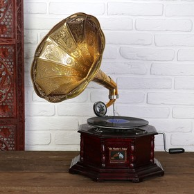 "Граммофон труба латунь ""Императорский"" (пластинка в комплекте) 38х38х60 см в Донецке"