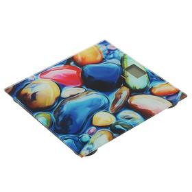 """Весы напольные Irit IR-7260, электронные, до 180 кг, рисунок """"камни"""""""