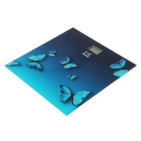 """Весы напольные Irit IR-7264, электронные, до 180 кг, рисунок """"бабочки"""""""