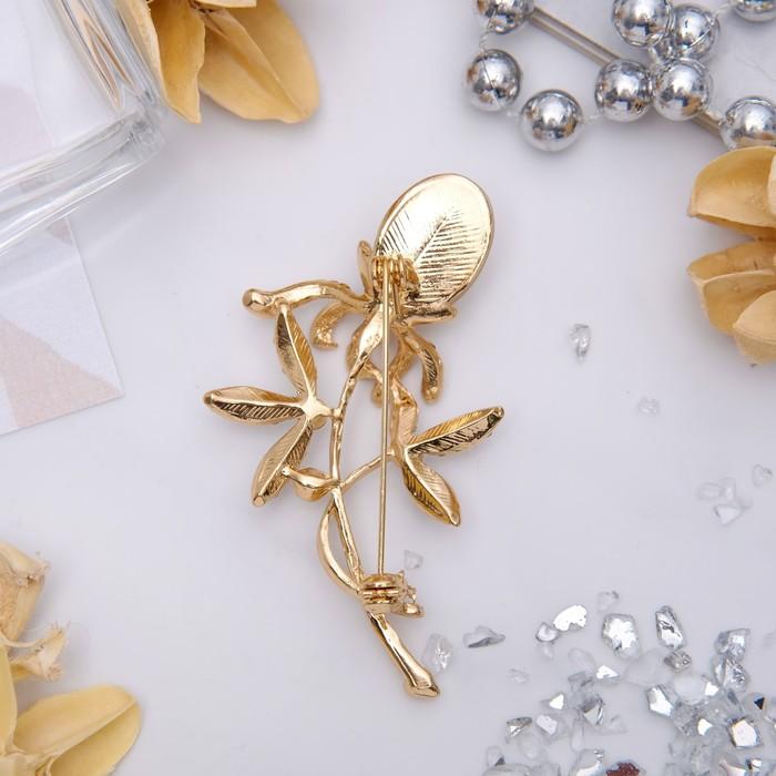 """Брошь """"Цветок"""" одуванчик, цвет бело-бежевый в золоте - фото 234151415"""