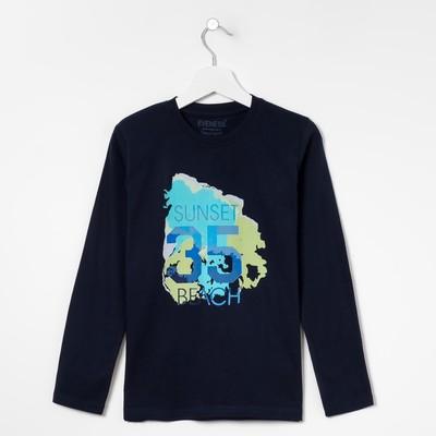 Лонгслив для мальчика, цвет синий, рост 140-146 см (40)