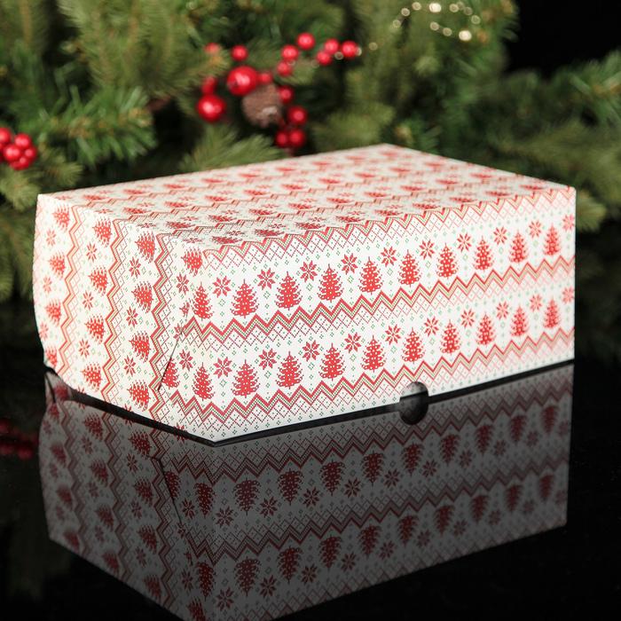 """Коробка картонная на 6 капкейков """"Время волшебства"""", 25 х 17 х 10 см"""