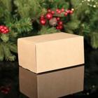 Коробка под 2 капкейка крафт, 16 х 10 х 8 см - фото 308035577