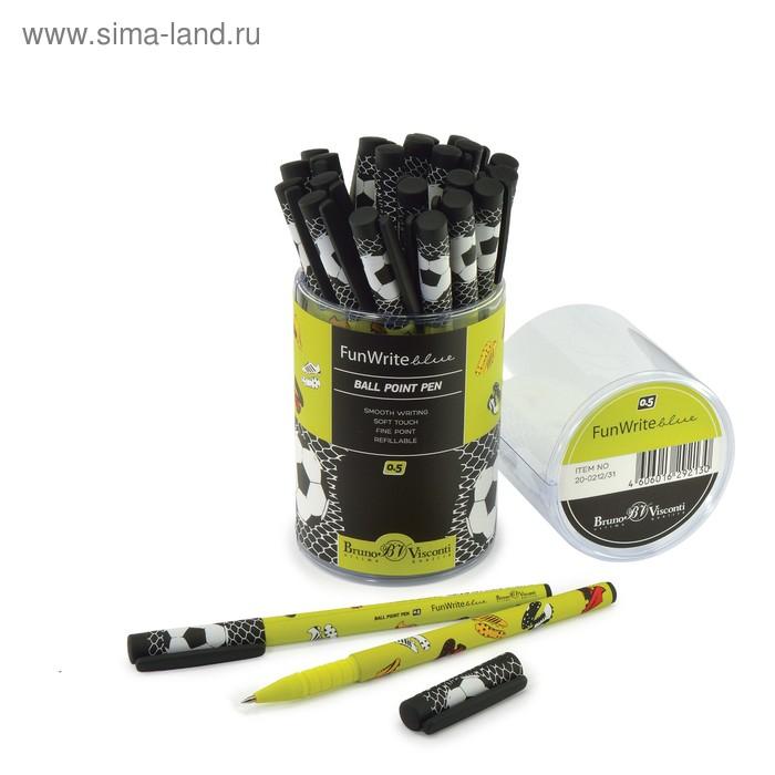 """Ручка шариковая BrunoVisconti FunWrite """"Футбольные бутсы"""", 0.5 мм, стержень синий"""