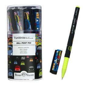 Ручка шариковая FunWrite «Цветные автомобили», узел 0.5 мм, синие чернила, матовый корпус Silk Touch