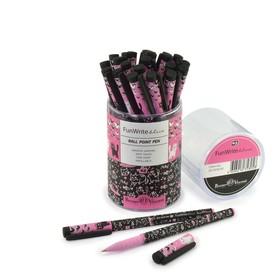 Ручка шариковая FunWrite «Розовые котята контур», узел 0.5 мм, синие чернила, матовый корпус Silk Touch
