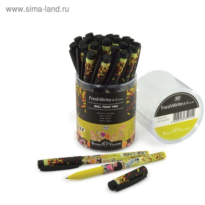 "Ручка шариковая BrunoVisconti FreshWrite ""Мультики. Енот"", 0.7 мм, стержень синий"