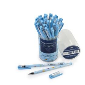 """Ручка шариковая HappyWrite """"Голубые птички"""", узел 0.5 мм, стержень синий"""
