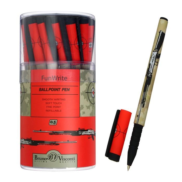 "Ручка шариковая BrunoVisconti FunWrite ""Винтовка"" 0.5 мм, стержень синий"