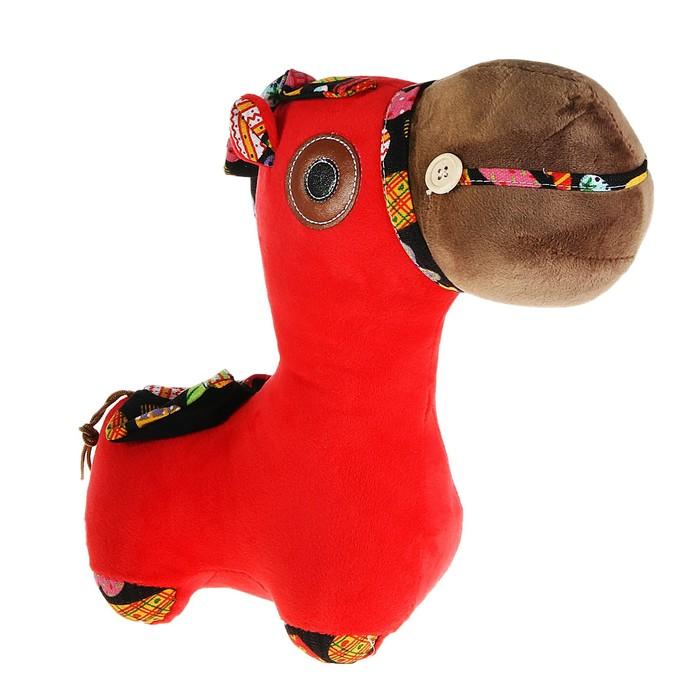 """Мягкая игрушка """"Лошадка"""" цветная грива"""