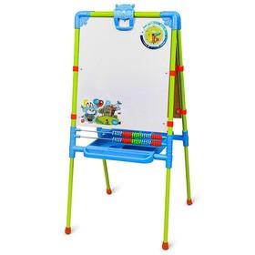 Мольберт детский, двусторонний «Веселая азбука», регулируется по высоте, размер 755 × 516 × 70 мм