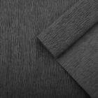 Креп для цветов простой, цвет чёрный, 0,5 х 2,5 м