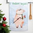 "Kitchen towel ""Ethel"" ""happy New year!"", 34х58 cm, 100% CL, reps 165 g/m2"