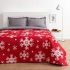 Покрывало «Экономь и Я» Новогодние снежинки 1,5 сп. 150×210 см, микрофайбер, 75 г/м²