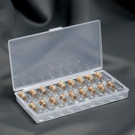 Набор баночек для хранения мелочей, d = 1,5 × 3,5 см, 18 шт