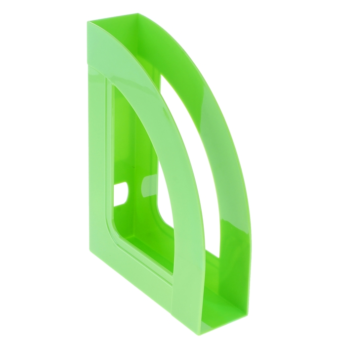 """Лоток для бумаг вертикальный """"Респект"""", зеленый KIWI"""