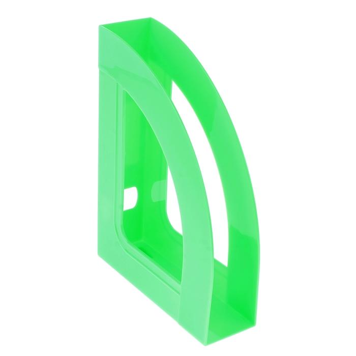 """Лоток для бумаг вертикальный """"Респект"""", зеленый SALAT"""