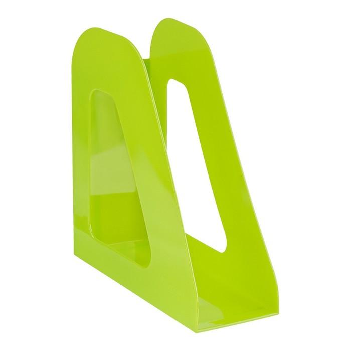 """Лоток для бумаг вертикальный """"Фаворит"""", зеленый KIWI"""