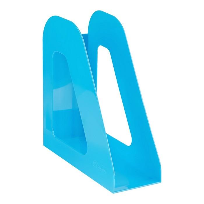 """Лоток для бумаг вертикальный """"Фаворит"""", голубой BLUE"""