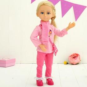 Кукла интерактивная шарнирная «Алиса» с аксессуарами и микрофоном, отвечает на голосовые команды, высота 48см