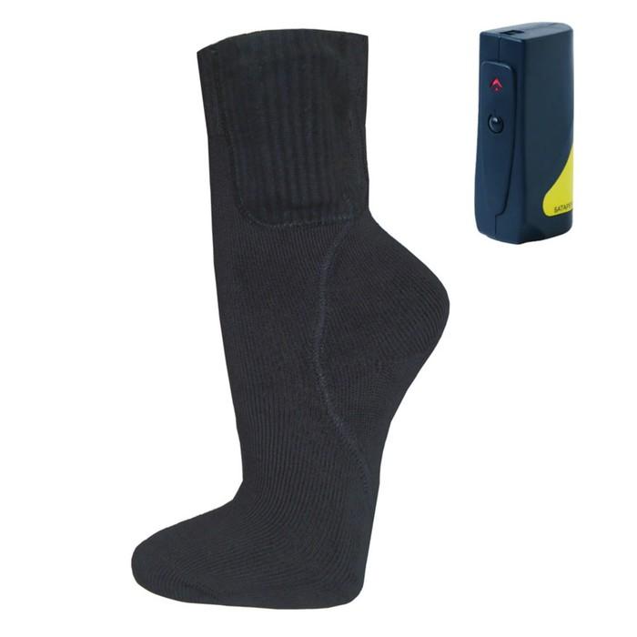 Носки с подогревом RedLaika RL-N-03, Akk с аккумуляторами, черные, 36-43, до 6 ч, 3400mAh